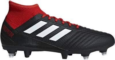 adidas Herren Predator 18.3 SG Fußballschuhe, Schwarz (Negbás/Ftwbla/Rojo 001), 43 1/3 EU