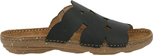 El Naturalista N5222 Torcal Damen Pantoletten,Pantolette,Hausschuh,Pantoffel,Slipper,Slides,Black,39 EU -