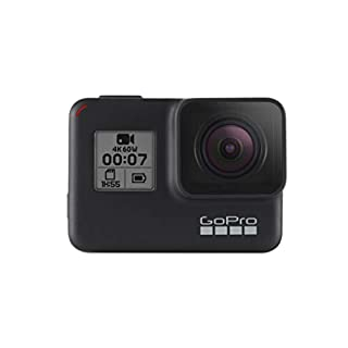 GoPro HERO7 Black - Waterproof Digital Action Camera with Touch Screen 4K HD Video 12MP Photos Live Streaming Stabilisation