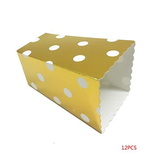 Bodbii 12PCS / Set Schöne Popcorn Box Süßigkeit sanck Favor Taschen Streifen-Geschenk-Beutel Hochzeitsfestbevorzugung Kinder Kino Party Supplies