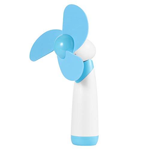Healifty Mini Fan Batteriebetriebene Weichschaumblätter mit Handkühlventilator (blau)