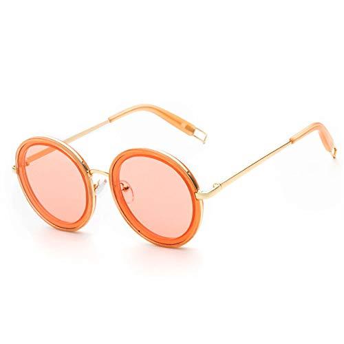 YANKAN Sonnenbrille Runder Rahmen Spiegel - Uv-Schutz 100% Uv400 Schutz Schwarz/Rot/Blau/Gree