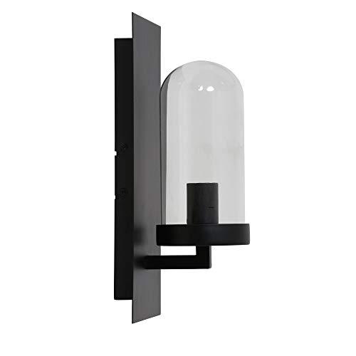 Design Wandleuchte 15x14,5x35 cm FENDI schwarz+Glas