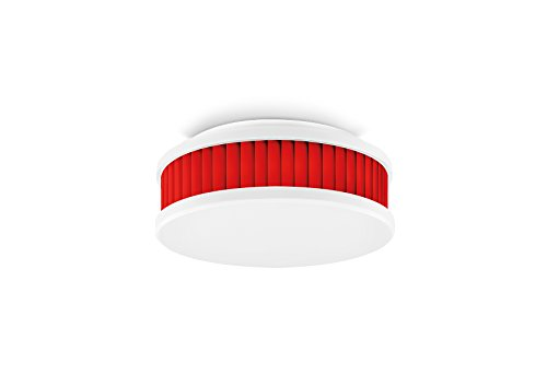 Pyrexx PX-1 12-Jahres-Rauchmelder, Weiß-Rot