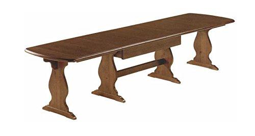Tavolo fratino allungabile da 190 a 370 in legno massello- Grezzo ...