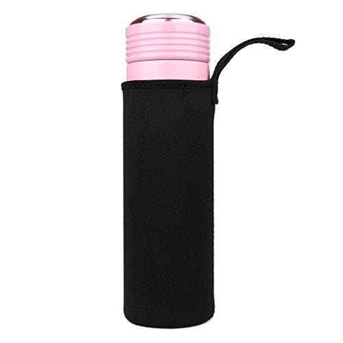 sunnymi 550ML Tauchbecher Flaschenhülle/Sport Wasserflasche/Neopren Mit Wasserabweisender Beschichtung/Leichte Und komfortable Isolierte Abdeckung (Schwarz)