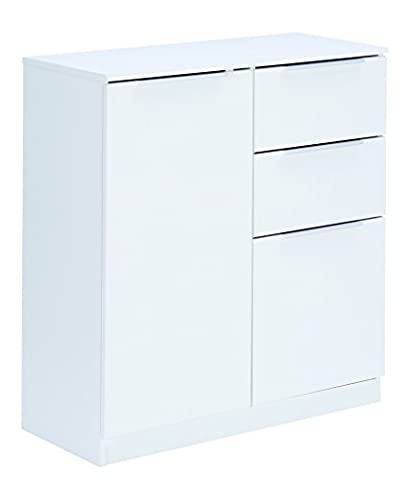 Demeyere 250531 Rangement Tout 2 Portes + 2 Tiroirs Blanc 85 cm