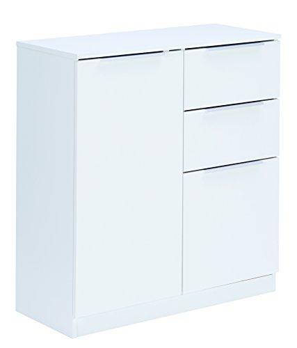 Links - Hill 20 buffet 2 porte + 2 cassetti. Dim. 80x35,3x85h cm. Truciolare. Bianco.
