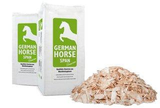 Tierstreu Span GHP Premium (Späne grob) Einstreu Tiereinstreu Holzspäne Hobelspäne für Pferde, Kleintiere und Nager 20kg 550L (Misc.)
