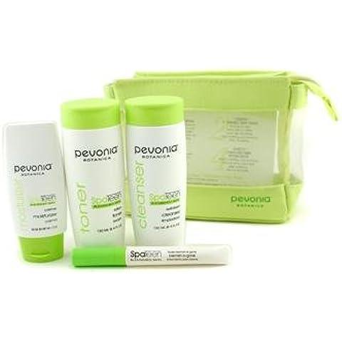 Pevonia Botanica SpaTeen Blemished Skin Kit: Cleanser + Toner + Moisturizer + Blemish-B-Gone + Bag (B-gone Kit)