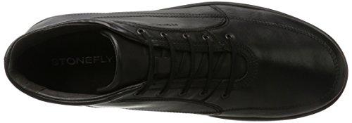 Stonefly Herren Season III 8 Nappa Sneaker Schwarz (Nero/black)