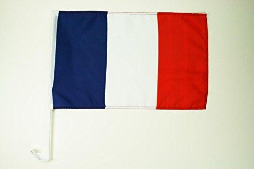 AUTOFAHNE FRANKREICH 45x30cm - FRANZÖSISCHE AUTOFLAGGE 30 x 45 cm - AZ FLAG Auto flaggen
