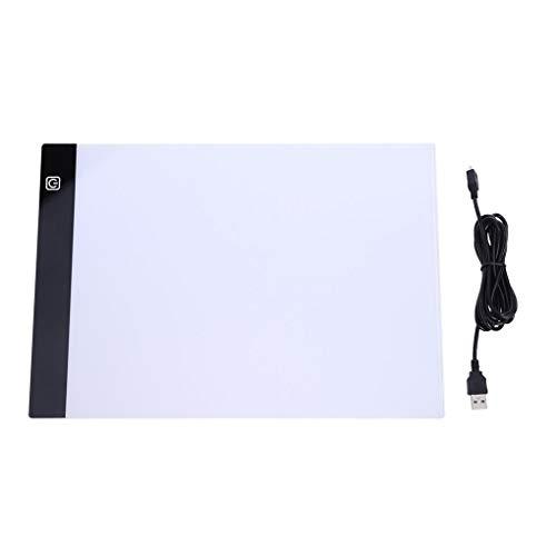 Demino A4 Copyboard-Animation Malerei Zeichenbrett Acryl Transluzent Platte -Leuchten Box Tracer Tabelle 1 33.8 * 23.8 * 0.35cm -