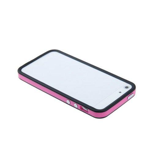 Apple iPhone 5 / 5s Etui Coque - Housse Etui Portefeuille Pu Cuir Rouge Pour Le Apple iPhone 5 5S - thinkmobile Rose / Noir