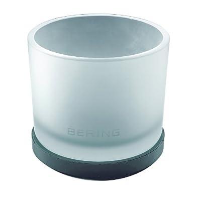 Bering Ceramic - Reloj analógico de caballero de cuarzo con correa de piel negra - sumergible a 50 metros de Bering