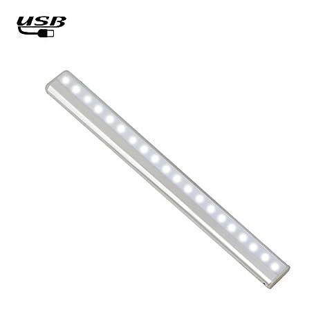 Motion Sensor Light Bar,20LED Rechargeable Sensor Wardrobe Light,Stick-on Anywhere Portable