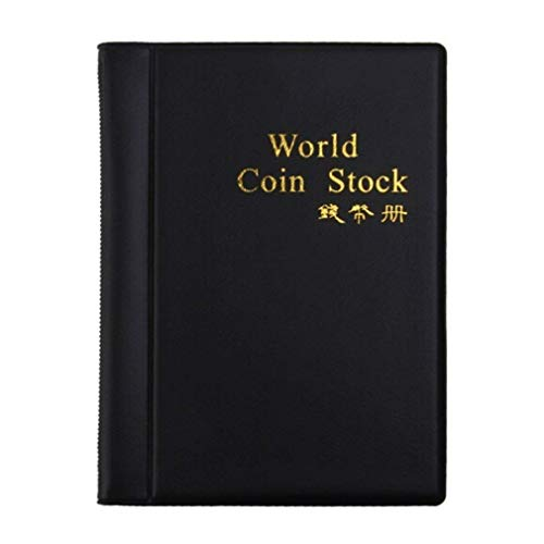 c0a2a9a399 Cestval Fashion Coin Collectors Folleto Collecting Album 120 Coin Holders  Colección Storage Coin Book Black