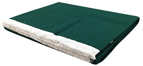 Tenda da sole con frangia e anelli brevettati in acrilico dralon tinta unita misure 140x250-140x300 6 varianti colore (140x250, verde)