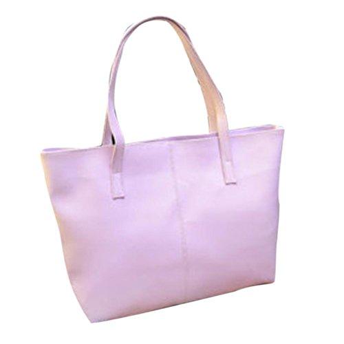 Saingace Art- und Weisehandtaschen-Dame Schulter-Beutel-Tote-Geldbeutel-Leder-Frauen-Kurier Handtaschen Schultertasche Freizeitrucksack Tasche Rucksäcke Lila