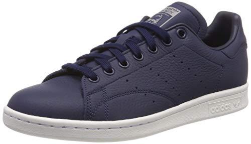 adidas Stan Smith, Zapatillas de Gimnasia para Hombre, Azul Collegiate Navy/Crystal White/Grey Three F17, 36 EU