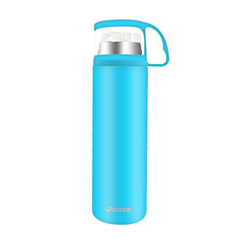 Haehne 500ML Boccette 304 Acciaio Inossidabile Carry Bottiglia Bere Tazza di Caffè Tazza di Vuoto Thermos (Blu)