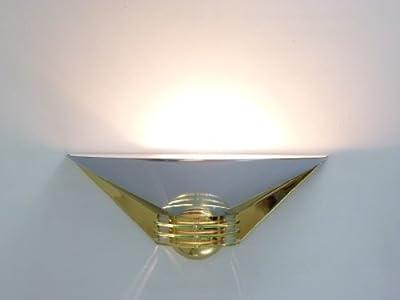 """""""Nadja"""" hochwertige Wandleuchte, Metall verchromt und vermessingt mit Acrylglas Einsatzscheiben als Deko von Bella-Vita GmbH - Lampenhans.de"""