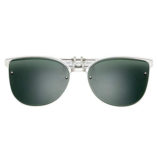 Sonnenbrille,Cat Eye Sonnenbrille Clip Auf Frauen Männer Polarisierte Spiegel Objektiv Uv 400 Sonnenbrille Clip Brillen Designer Für Grüne Fahren