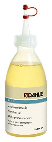 Dahle Bürotechnik Spezialöl für Aktenvernichter Dahle 20790, Tropfflasche, 250 ml