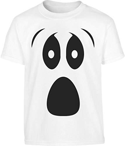 Grusel Kostüm Halloween Kostüm Kinder Shirt Ghost Kinder T-Shirt 11-12 Jahre (152cm) Weiß