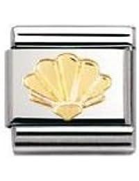 Nomination Composable Classic NATURE Edelstahl und 18K-Gold (Muschel) 030111