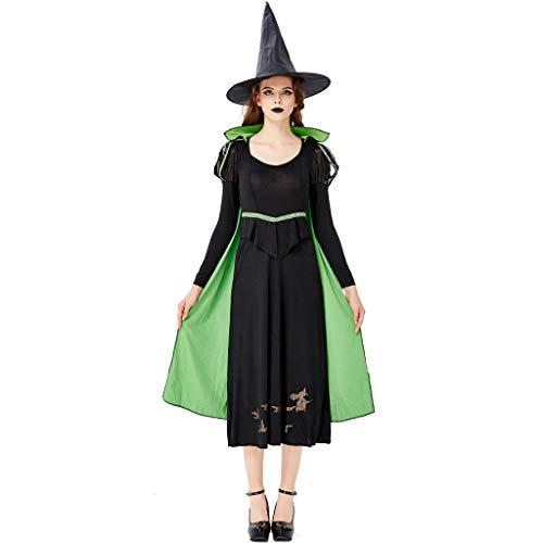 Riou Halloween Kostüm Damen Hexe KostümThe Queen's Long Kleid Party Cosplay Karneval kostüm - Heidi Klum Kostüm