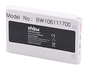 BATTERIA VHBW Li-Ion 700mAh (3.7V) per Telefono Cellulare Smartphone Nokia 8850, 8890, 8910, 8910i come BLB-2.