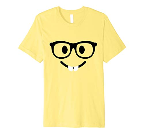 Nerd Gesicht mit Buck Zähne Emoji-T Shirt Kostüm