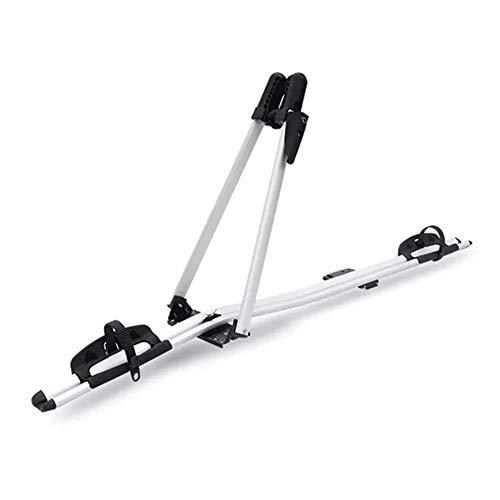Leichter Fahrradträger aus Aluminium für das Autodach - 2-Arm-Trägerdesign, Gummiabdeckung, Metallbasis, Sicherheitsstabil, Robust, Langlebig, Anti-Reibungs-Konservierungsmittel, Für alle Fahrräder