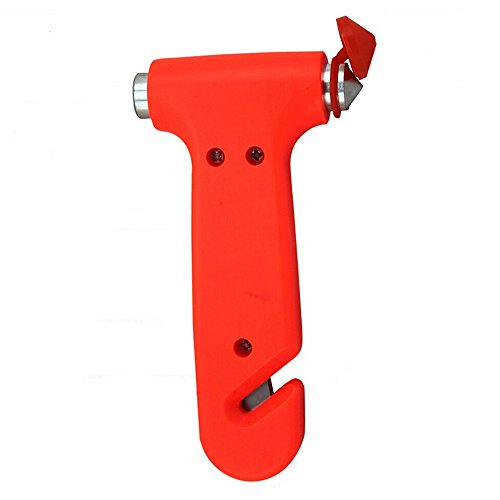 Bluelans® Nothammer Notfallhammer Gurtschneider Gurtmesser Sicherheit fürs Auto Kfz
