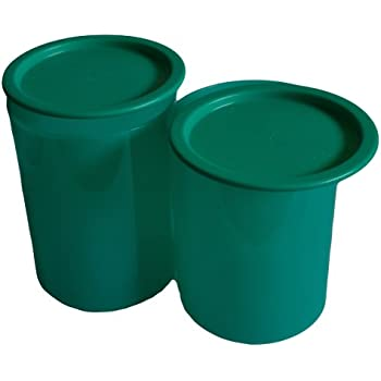Tupperware One Touch Canister, Green, 1.3 Litres, Set of 2