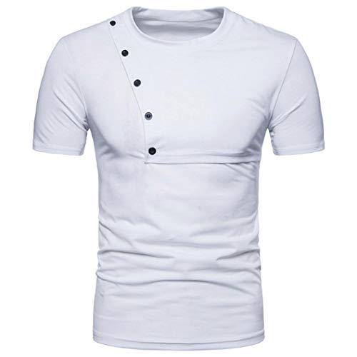 Cebbay Tee Shirt Homme Polo Mode Chemises Personnalité Sweat-Shirt Casual Slim Zipper S T-Shirt à Manches Courtes Top Blouse Liquidation Pas Cher Cebbay