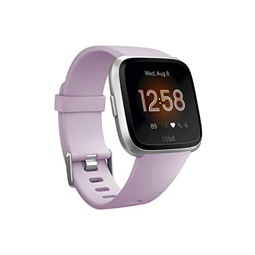 Fitbit Versa Lite Reloj Inteligente, Adultos Unisex, Lila/Plata Aluminio, Talla única