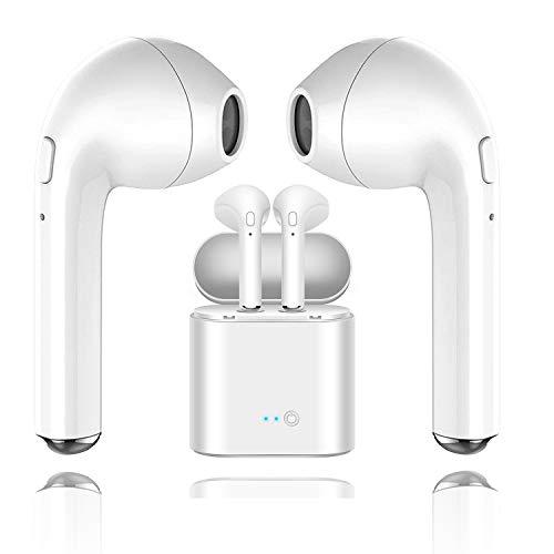 Auriculares Bluetooth, Auriculares inalámbricos i7 con Caja de Carga, micrófono