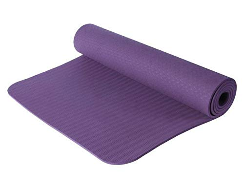 HWH Esterilla Yoga Colchoneta De Fitness para, Antideslizante/Estiramiento, Inicio, Gimnasio, Pilates, Inicio Entrenamiento,Purple