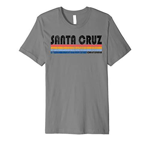 Vintage Retro 70er 80er Santa Cruz ca T Shirt (Youth T-shirt Beach)