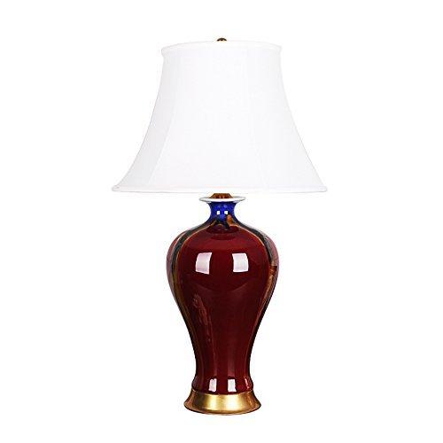 Tischlampe Keramik Tischlampe, Klassische Crimson Tischlampe Wohnzimmer Schlafzimmer Restaurant Tischlampe Nachttischlampe Taste Schalter E27 * 1 Größe 40 * 70 cm Originalität (Größe: 40 * 70 cm) Gor -