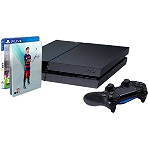PlayStation 4 - Consola 1TB [CUH-1216B] + FIFA 16 con Steelbook (solo en Amazon)