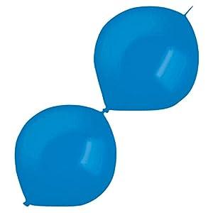 amscan 9905666 50 - Globos de látex (izquierdos), Color Azul