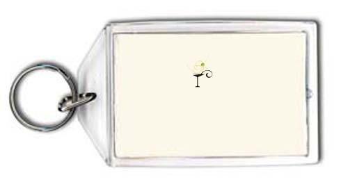 SHOPZEUS Schlüsselhalter mit der Grafik: Martini-Glas