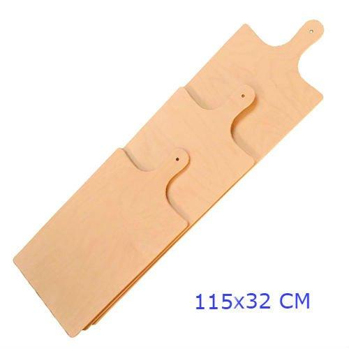 Panetta casalinghi rettangolare meter pizza tagliere, legno di betulla, beige, 115x 1.2x 32cm