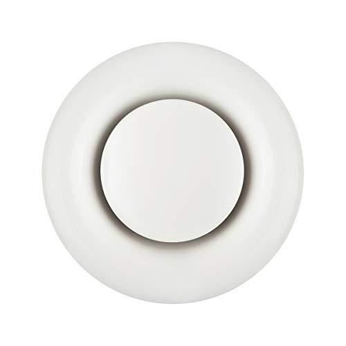 Klimapartner tvsa 100 - griglia ventilazione rotonda regolabile valvola acciaio bianca (ral9010)