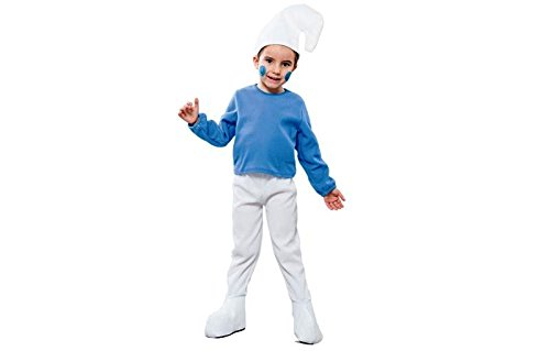 eurocarnevales Blauer Zwerg Gnom 98/104 Kinderkostüm (Zwerg Kostüm Glücklich)
