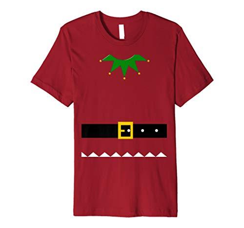 Elf Weihnachten Kostüm T-Shirt Santa Helfer Urlaub Tee