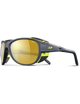 Julbo Explorer 2.0–Gafas de Sol, Hombre, Color Gris Mat/Vert, tamaño M/L